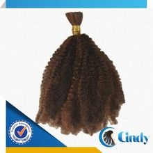 buy dark brown 100% virgin indian afro kinky bulk human hair