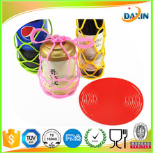 New design collapsible picnic silicone wine bottle basket