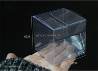 Retail Clear Plastic Gift Package Box Packing PVC Boxes 6*6*6cm