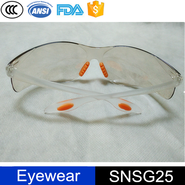 custom logo free sample rubber nose pad safety glasses spectacles