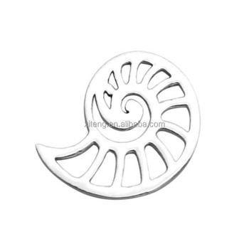 2017 NEW Fashion Vintage Jewelry Making Accessories Silver Color Steel Stain Sea Snail Charm Pendant Shell Jewelry Pendant