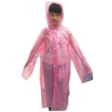 Fashion Design Cartoon pattern kids Raincoat rain poncho