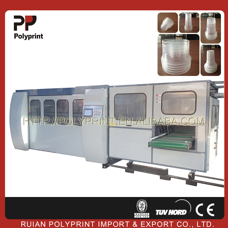 Maximum Speed Disposal Plastic Glass Machine