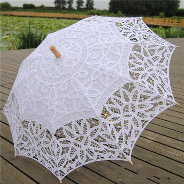 wedding lace ladies parasol frame