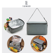 2017 New Fashion Insulated Canvas Lunch Bag Thermal Food Kids Men Cooler Lunch Box