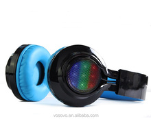 VOSOVO Provide with superior sound/Folding design/Fantastic colorful lights' blue tooth headset
