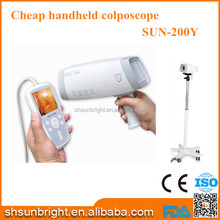Full digital low price sun-200Y handheld small size colposcope with monitor