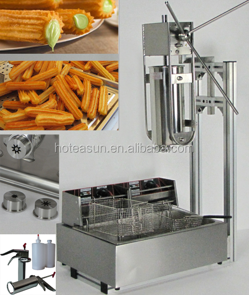 Hot Sale 4 in 1 5L Manual Churro <strong>Machine</strong> + Working Stand + 12L Deep Fryer + 700ml Churro Filler