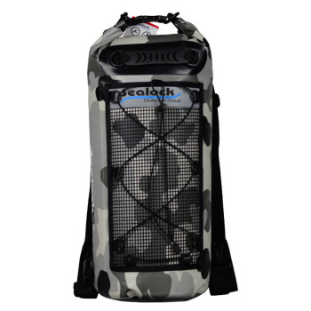 PVC Material and Outdoor Sport Use camouflage dry bag with mesh pocket