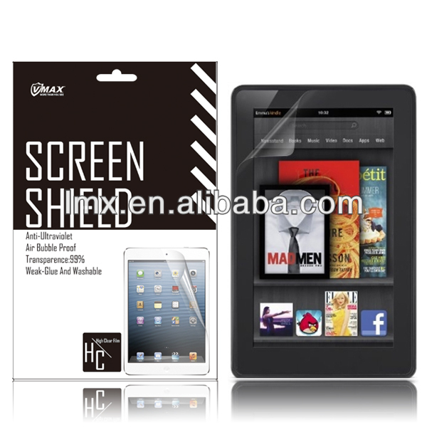 Screen protector & tablet pc screen guard for Amazon kindle fire oem/odm(High clear)