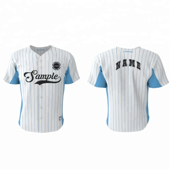 Striped Pinstripe Sublimated Wholesale Custom Cheap Baseball Jersey high quality