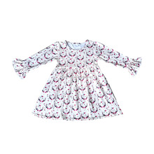 Latest kid baby girls fall winter boutique remake children dresses fashion clothing