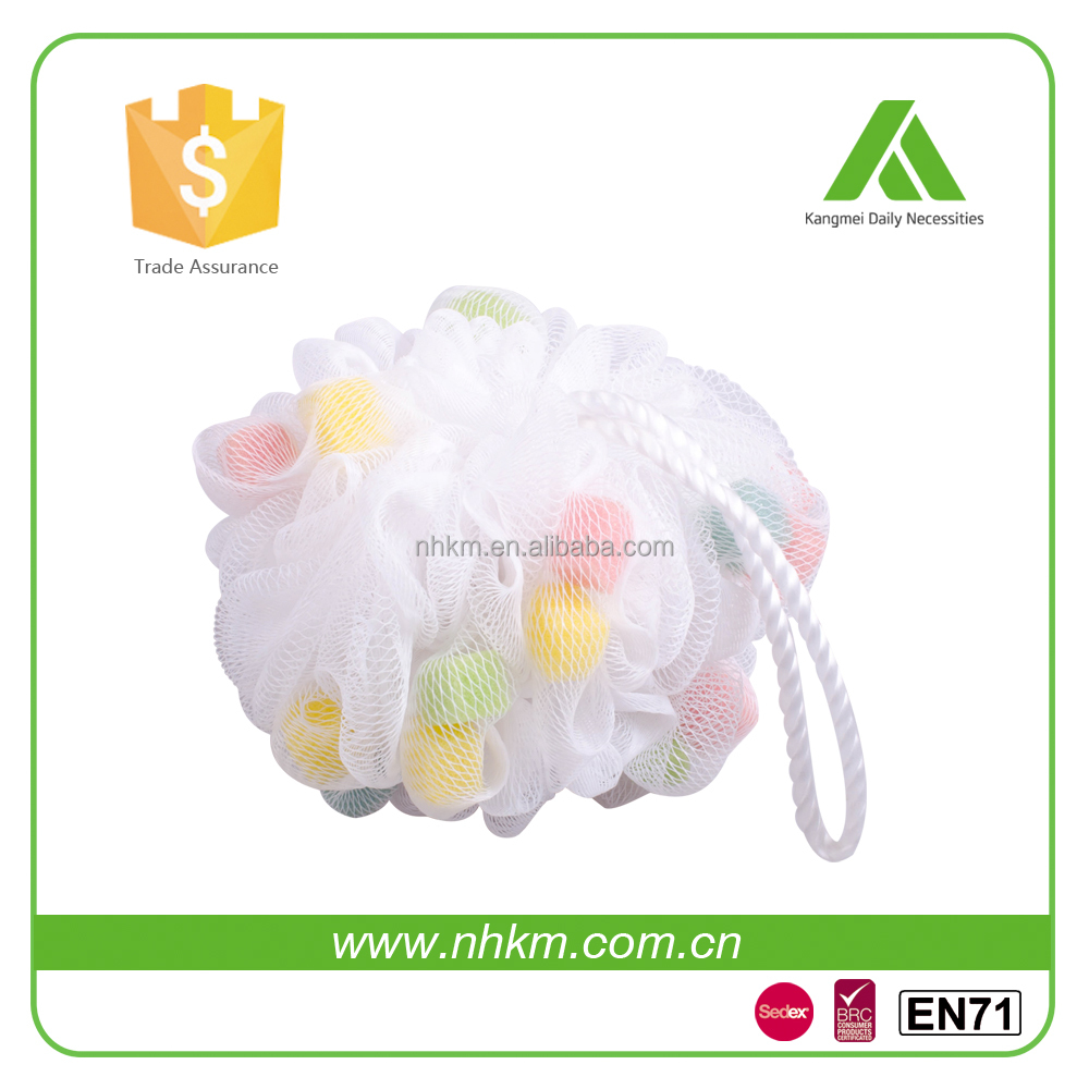 promotional large mesh plastic Facial Cleaning mesh Sponge