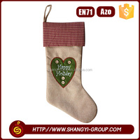 High quality novelty christmas hanging socking living room decoration