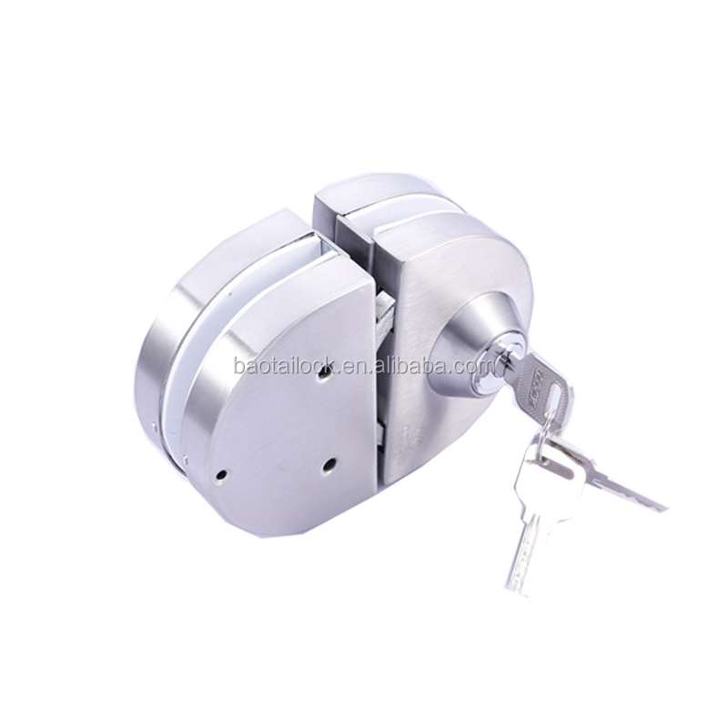 CL1741 Stainless Steel Sliding And Safe Glass Cylinder Fitting Center Lock For Glass Shower Door