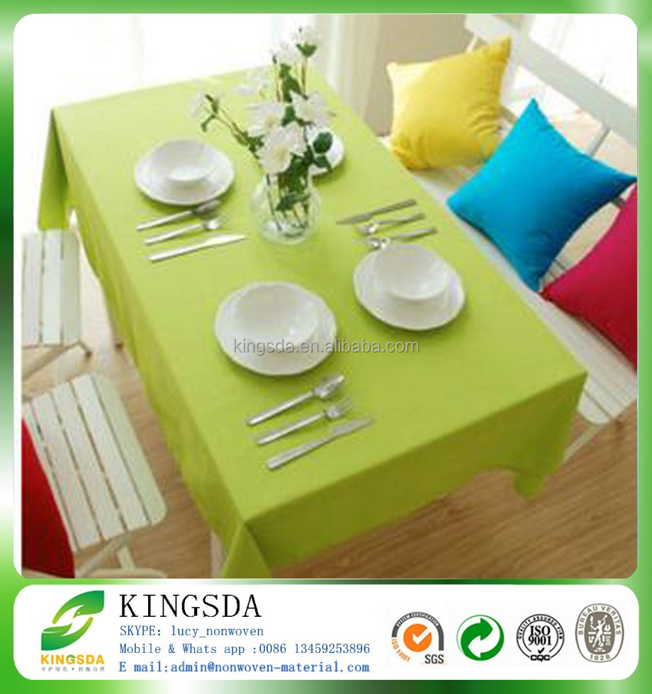 Eco-friendly PP spunbond nonwoven table cloth, non-toxic non woven table cover