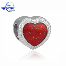 Red Heart Love Heart Imports Beads Wholesale European Best Import Jewelry