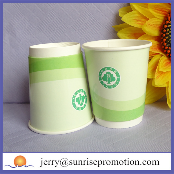 Double wall bio wholesale paper coffee cups