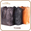 2014 new fashion ladies leather handbags, leather shopping bags