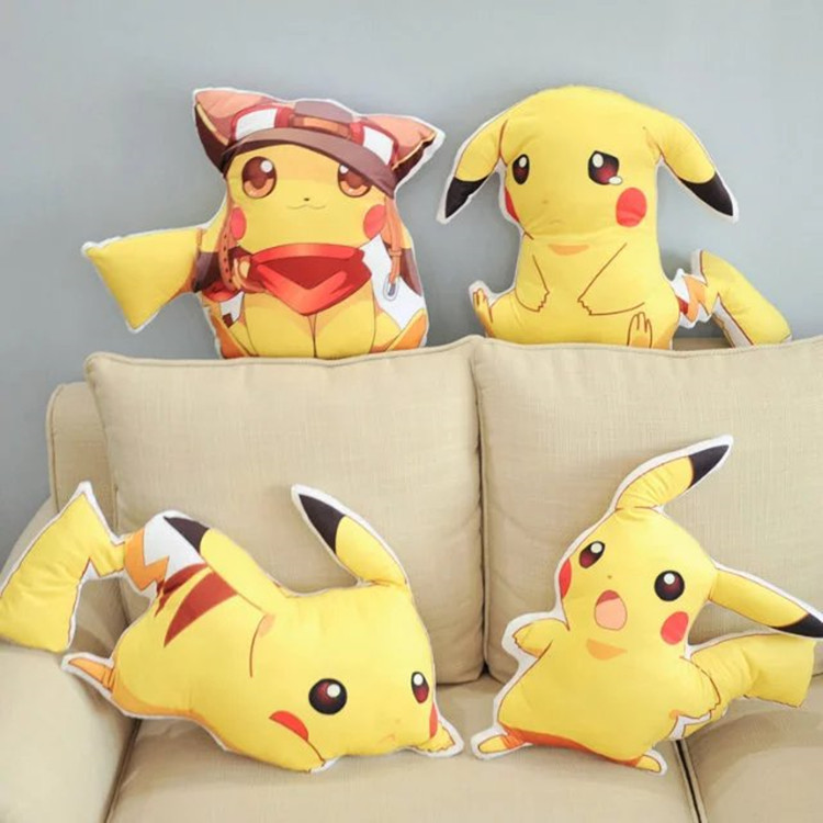 Pokemon go Pikachu cute doll pillow bed bolster pillow