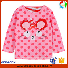 New arrival lovely sport baby clothing for spring cotton child t shirt wholesale 2016 fashion casual kid t shirt (Ulik-429)
