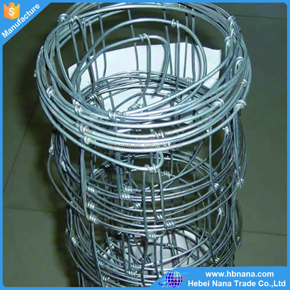 Poultry Equipment Glavanized Farm Fence / Field Fence / Lowes Hog Wire Fencing For Animals