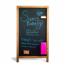 Double Side Wooden Magnetic A Frame Chalkboard With Stand