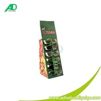 Corrugated paper table display stand shop counter