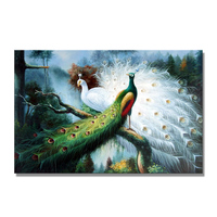 Handmade New Designs Peacock Oil Painting On Canvas