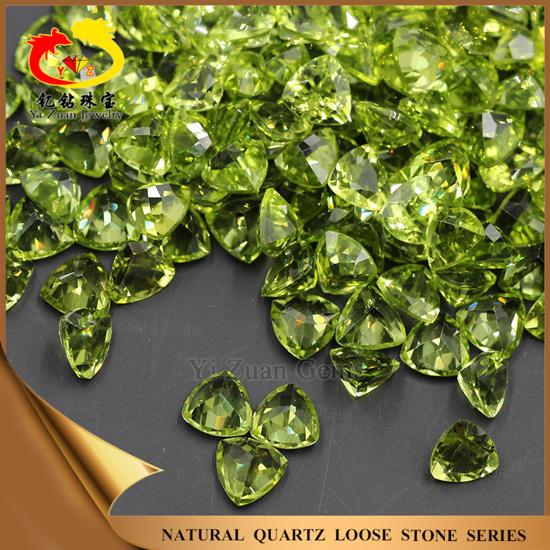 Olivine Fat Triangle Trillion shaped loose Natural stone Peridot gemstones