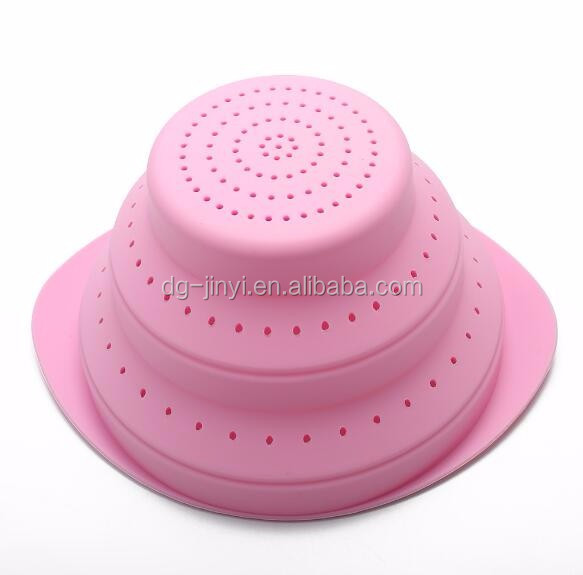 Wholesale silicone collapsible spaghetti strainers kitchen silicone strainer