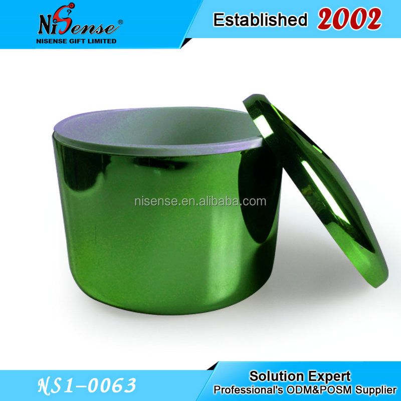 Galvanized Geen Color PS 10L Double Wall ice bucket