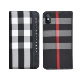 best selling fashion fabric magnetic closure protective stand flip wallet card case for iphone 8/7/6/plus