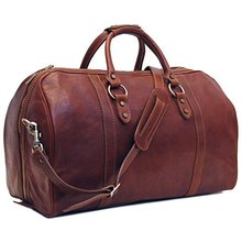Leather Type Sport Travel Trolley Duffle Luggage Bag