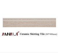 hot sale bathroom wall designs ceramic skirting tile 40*800mm