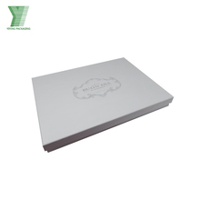 Online Shopping White Paper Cardboard Box For Apparel/Clothes/Wedding Dress Gift Paper Box Packaging