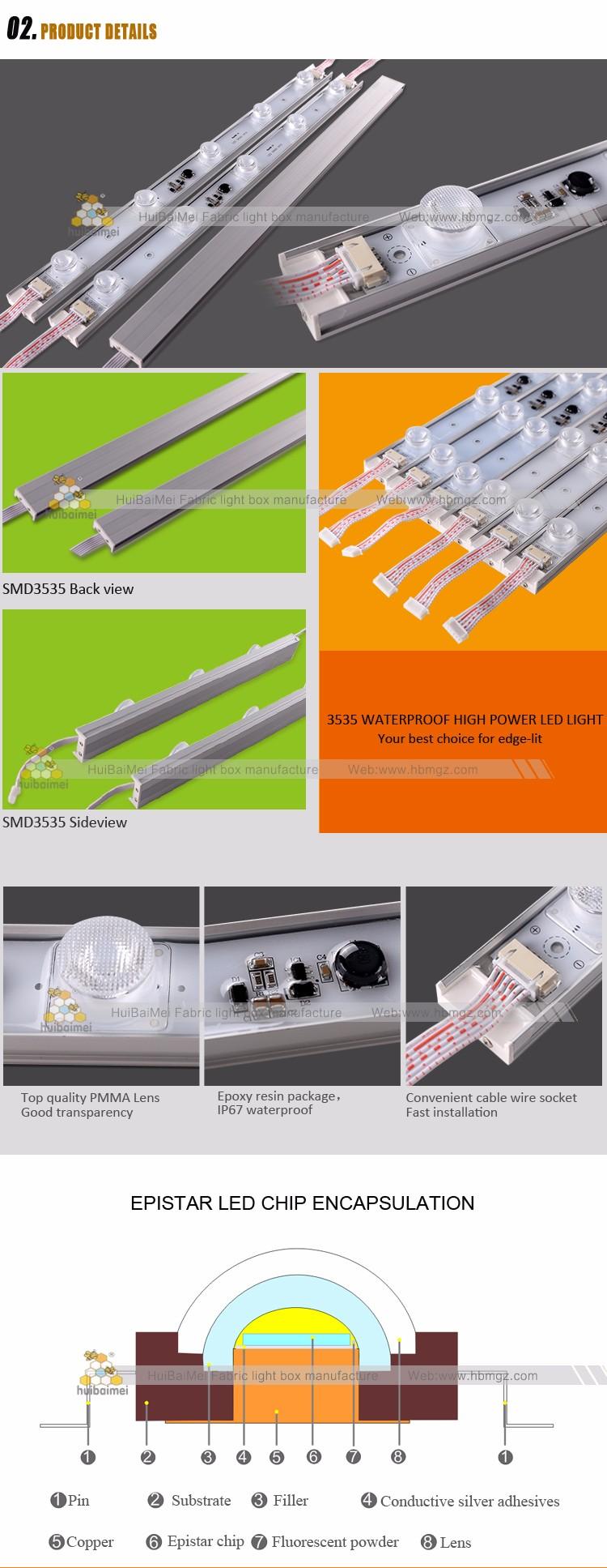 Led Edge Lighting Ce Rohs Certified Rigid Bar Lit High Power Wiring Diagram 3535