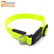 Chinese Factory Supply Plain Nylon Reflective Tape Led Dog Collar