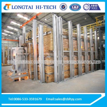 10 Tons/Day Horse-shoe Flame Ceramic Frit Kiln For Sale