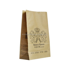 Brown kfraft paper bags for bread, cakes, sandwiches, coffees, cookies