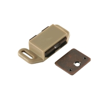 Brown Tan Plastic Magnetic Catch