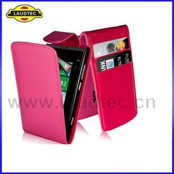 2014 New for Huawei Ascend Y600 PU Leather Top Flip Case Cover Cell Phone Case Made in China