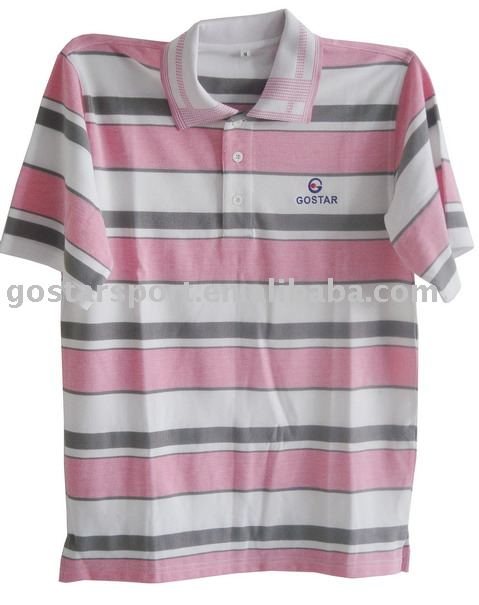 100% Cotton Pink and Grey Golf T Shirt