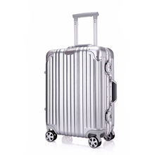 Luggage Factory Directly Eight Colors Made from ABS&PC Rotating Wheels TSA Lock and Telescopic Trolley