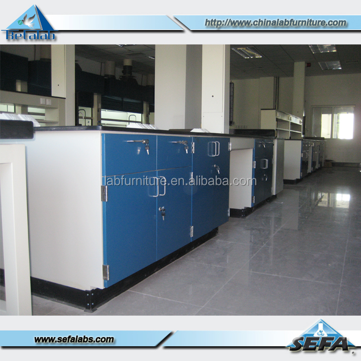 China Lab Work Bench Epoxy Resin Lab Bench Top Floor Mounted Full Steel Work Bench With Drawers
