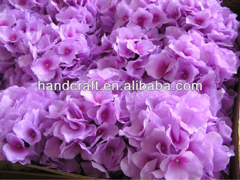 silk purple hydrangea wedding centerpieces