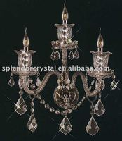 Classic 3-Light Candlebra Crystal Wall Sconces