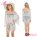 Private Label Off Shoulder Cover Up Summer White Beach Dress