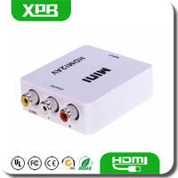 Promotion Mini Size HDMI to AV Converter HDMI Female to RCA Male