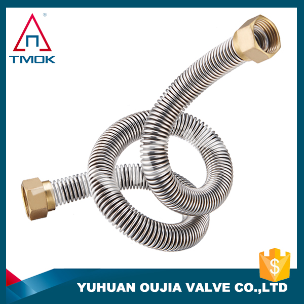 400mm-600mm length brass BSP/NPT in thread stainless steel body air condition pipe fittings/tube aluminum pipe in oujia valve